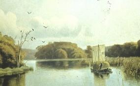 Typisk Silkeborg kaag på Gudenåen